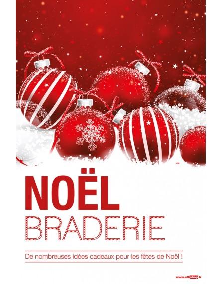 Affiche Noel Affiche Braderie Noël